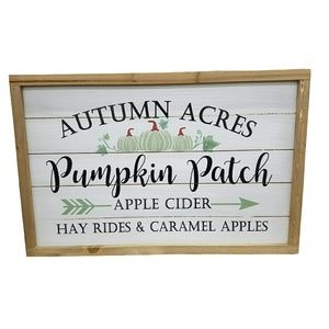 Other - Autumn Acres Pumpkin Patch Wood Sign